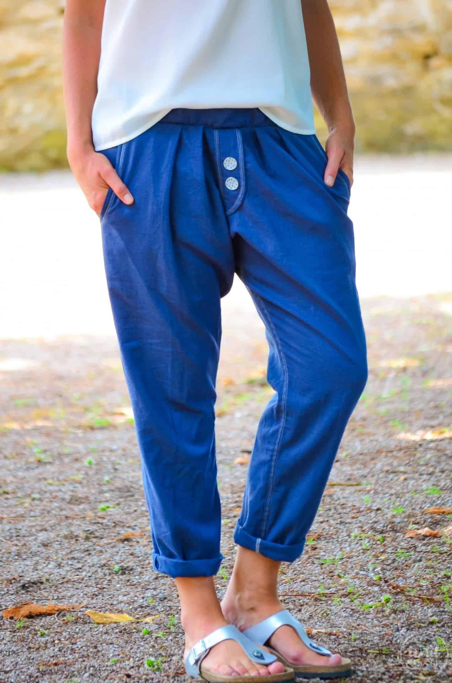 Nähen für den Sommer: Lässige Hose aus Leinen » Textilsucht®