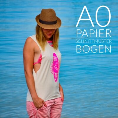 Papierschnittmuster Das Beachshirt + Nähanleitung