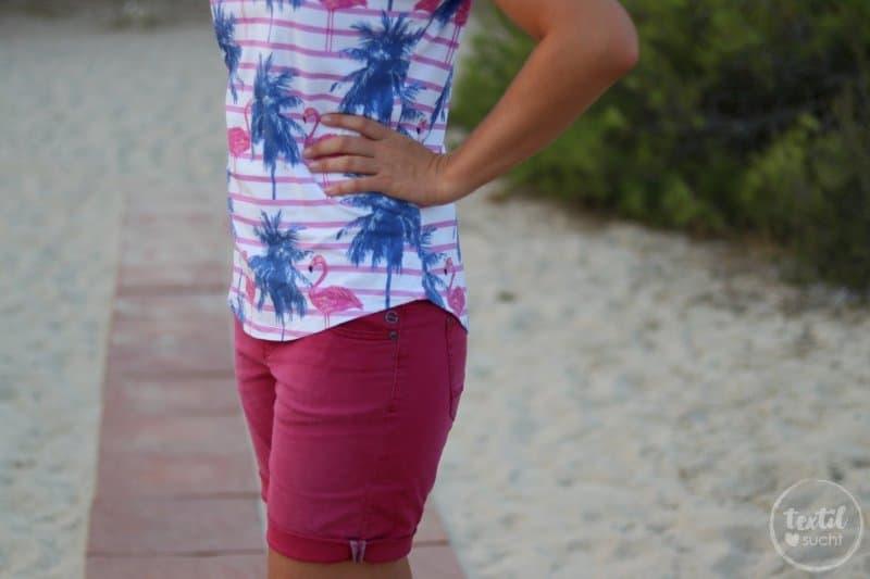 Nähen für den Sommer: Flamingo Shirt Amylee - Bild 9 | textilsucht.de