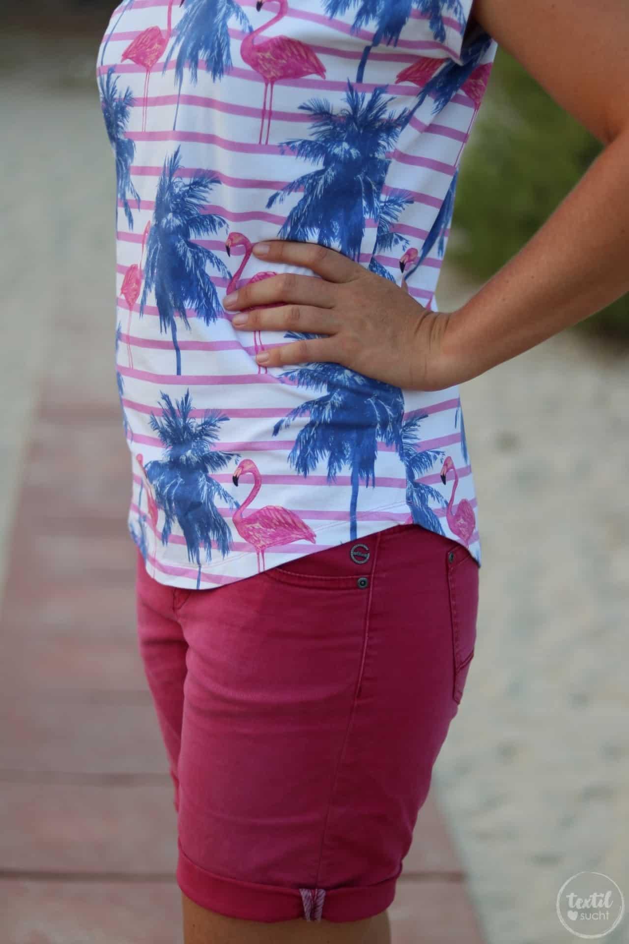 Nähen für den Sommer: Flamingo Shirt Amylee - Bild 5 | textilsucht.de