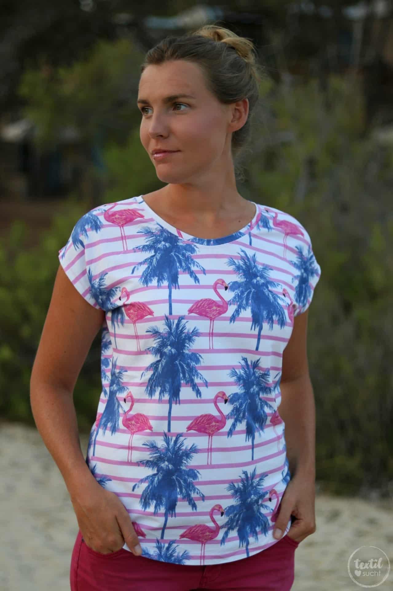 Nähen für den Sommer: Flamingo Shirt Amylee - Bild 2 | textilsucht.de