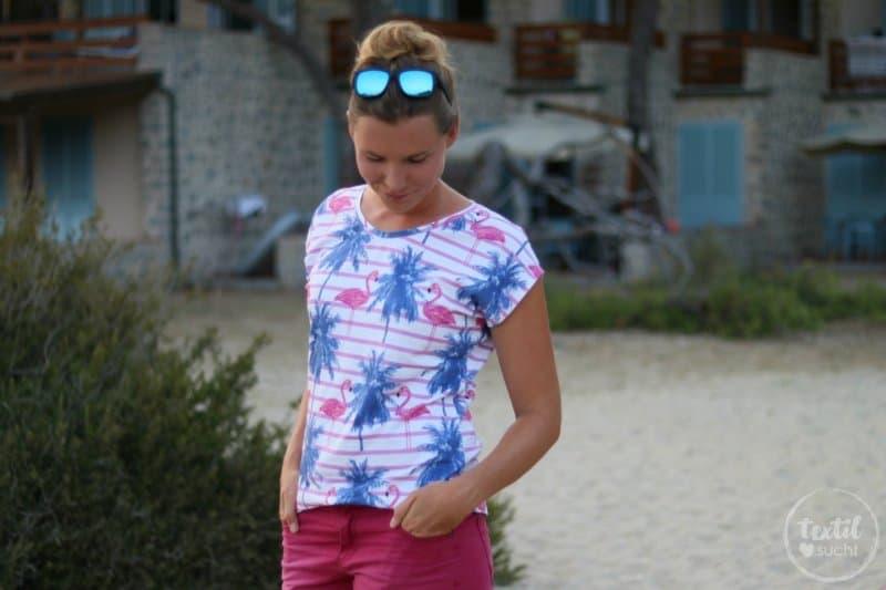 Nähen für den Sommer: Flamingo Shirt Amylee - Bild 3 | textilsucht.de