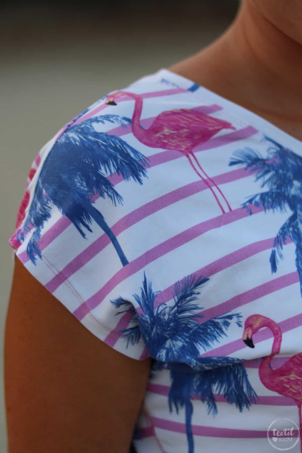 Nähen für den Sommer: Flamingo Shirt Amylee - Bild 6 | textilsucht.de