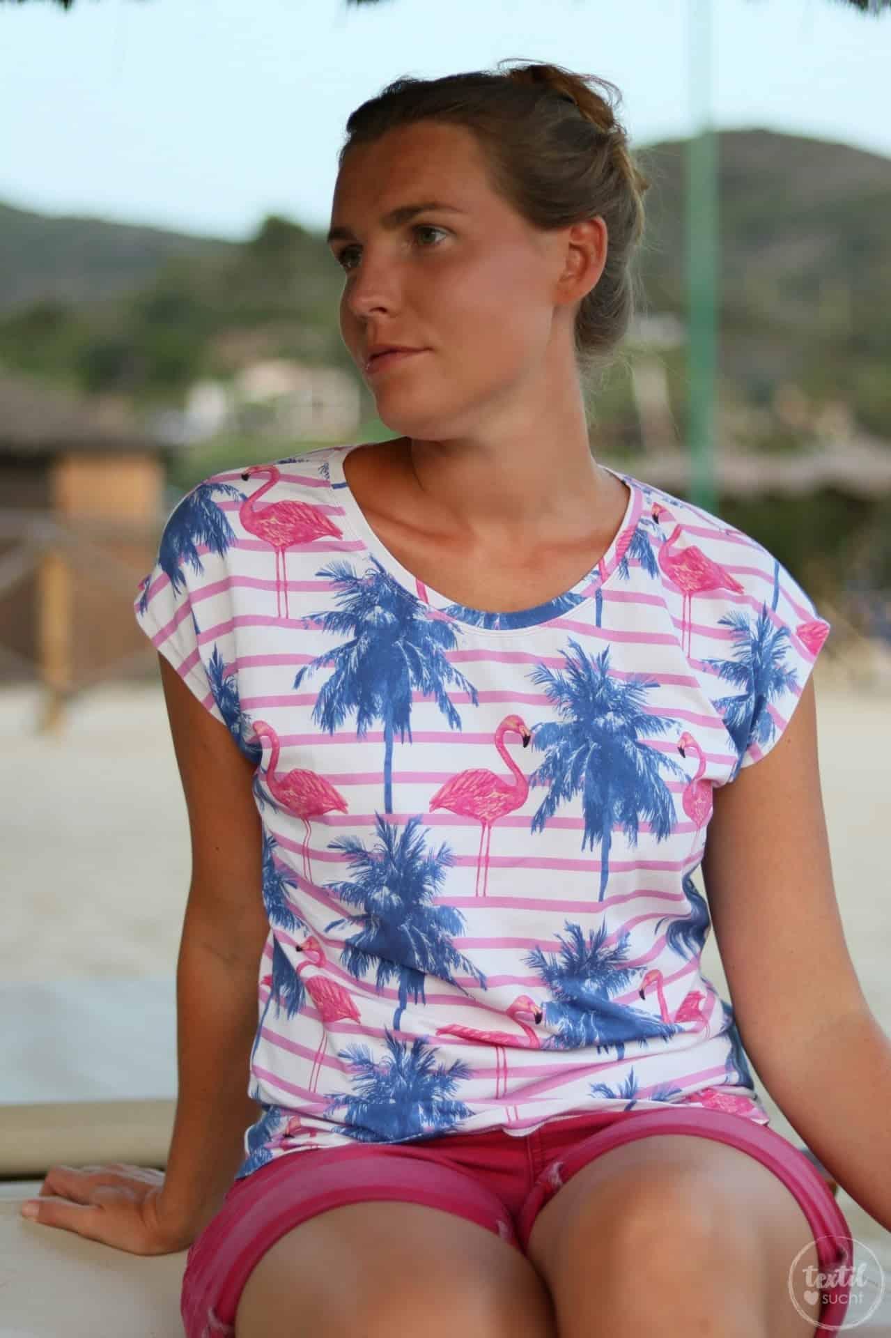Nähen für den Sommer: Flamingo Shirt Amylee - Bild 1 | textilsucht.de