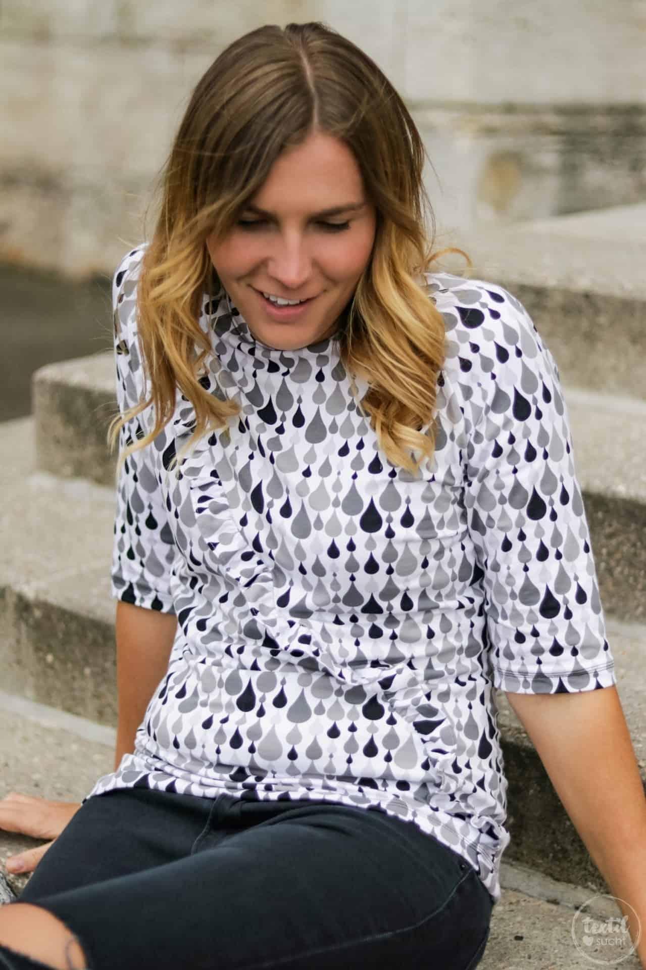 Schnittmuster kombinieren: Shirt Rüschli, Cardigan Lani und Hose Romana - Bild 1   textilsucht.de