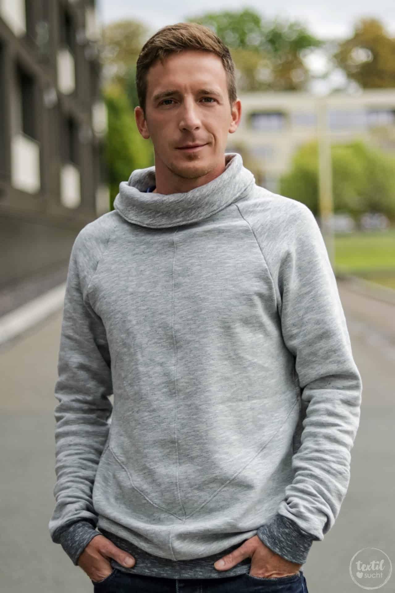 Schnittmuster Sweater Kuschelwarm für Männer