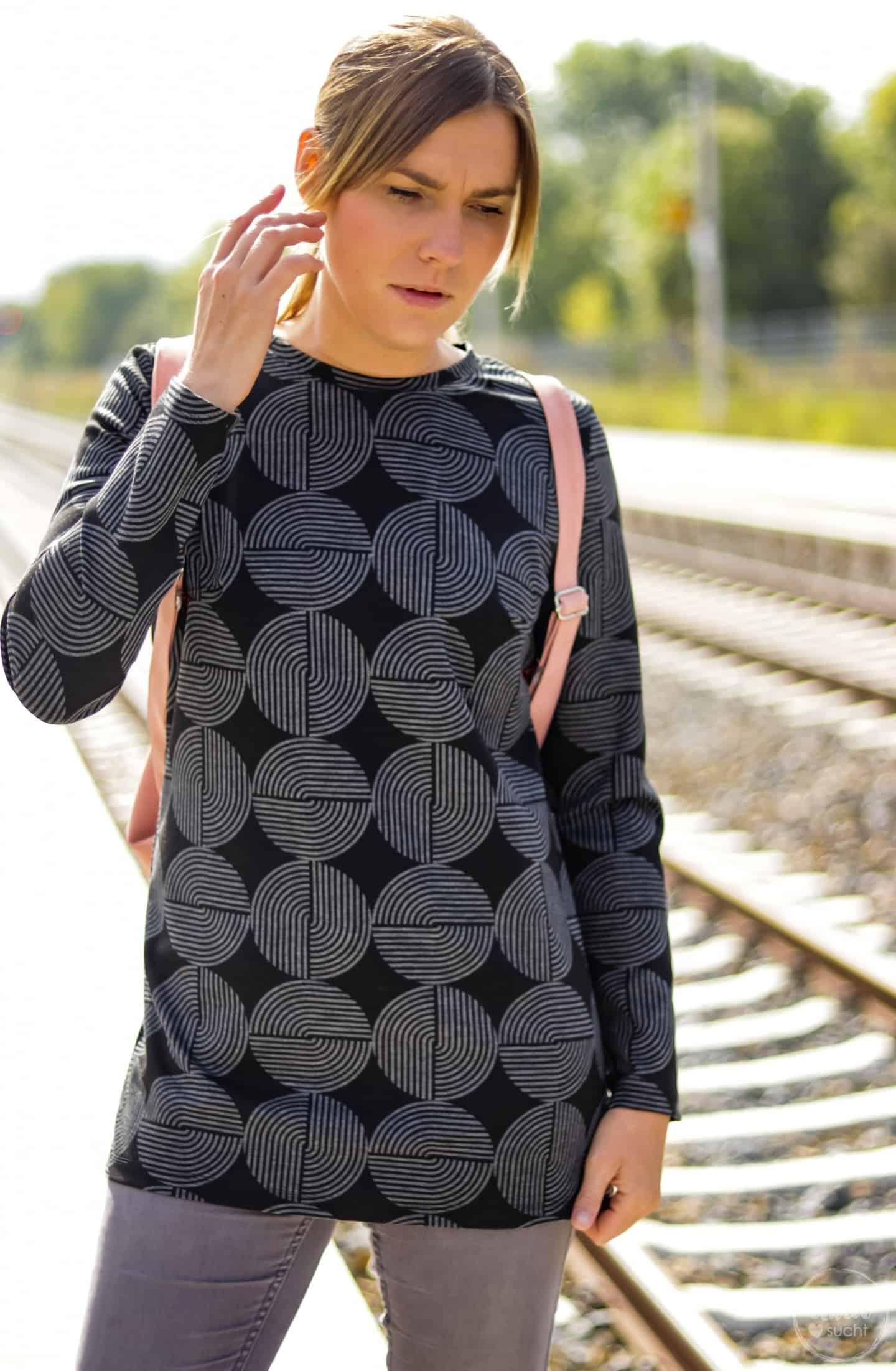 Designnähen Milliblus: Schnittmuster Longshirt Anna | textilsucht.de