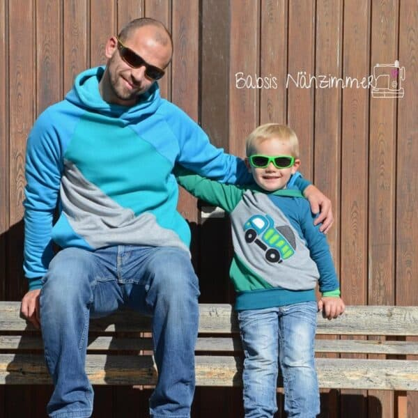 Schnittmuster Sweater Kuschelwarm für Herren und Kinder