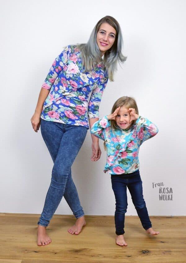 KombiEbook Schnittmuster Rüschenshirt für Damen und Kinder