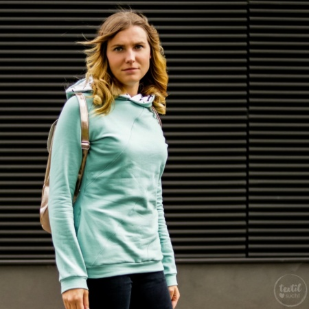 Schnittmuster Sweater Kuschelwarm für Damen - Hoodie Schnittmuster von textilsucht