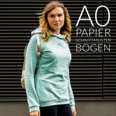 Papierschnittmuster Sweater Damen - inkl. Nähanleitung