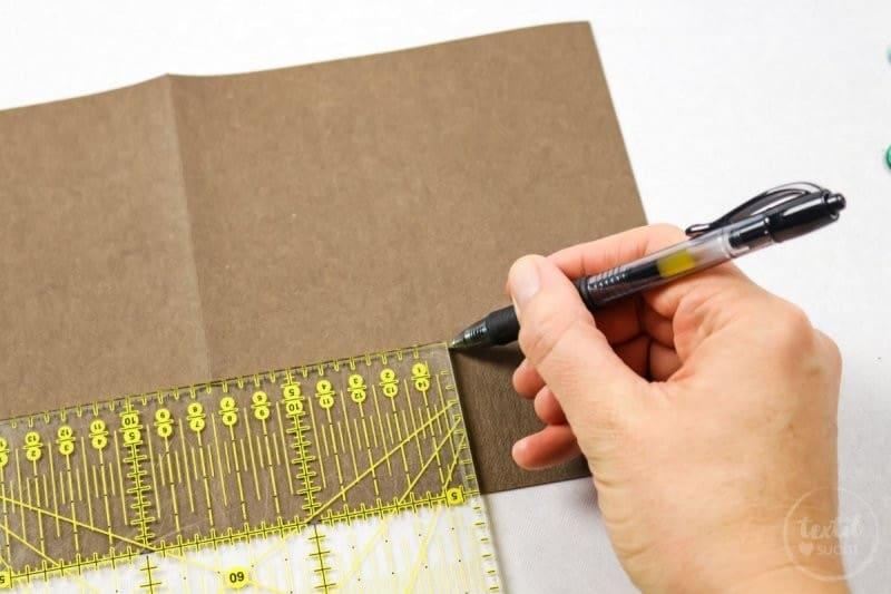 DIY Karte basteln mit Base Rosé von Schneider - Schritt 2 | textilsucht.de