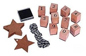 RAYHER 68048000 Stempel Set Zahlen 0-9
