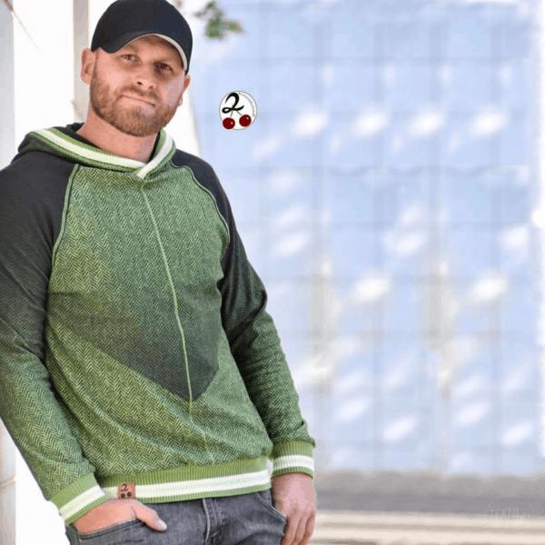 Designbeispiel Schnittmuster Sweater Kuschelwarm von Textilsucht