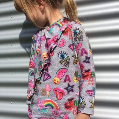 Schnittmuster Shirt mit Rüschen für Kinder inkl. Nähanleitung