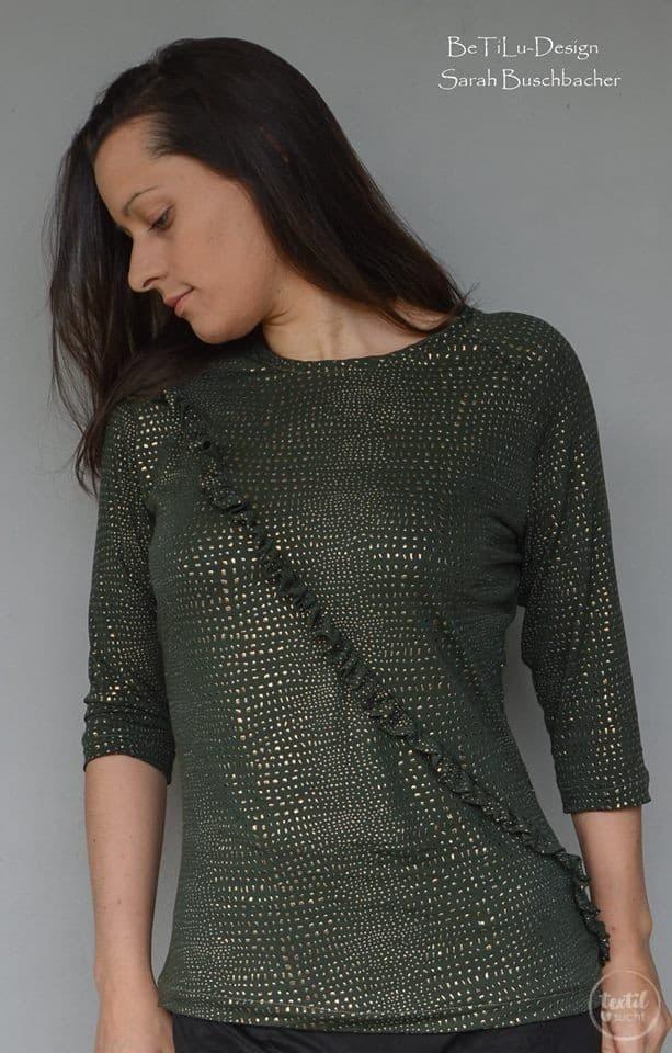 Schnittmuster Rüschenshirt Damen - inkl. Nähanleitung » Textilsucht®