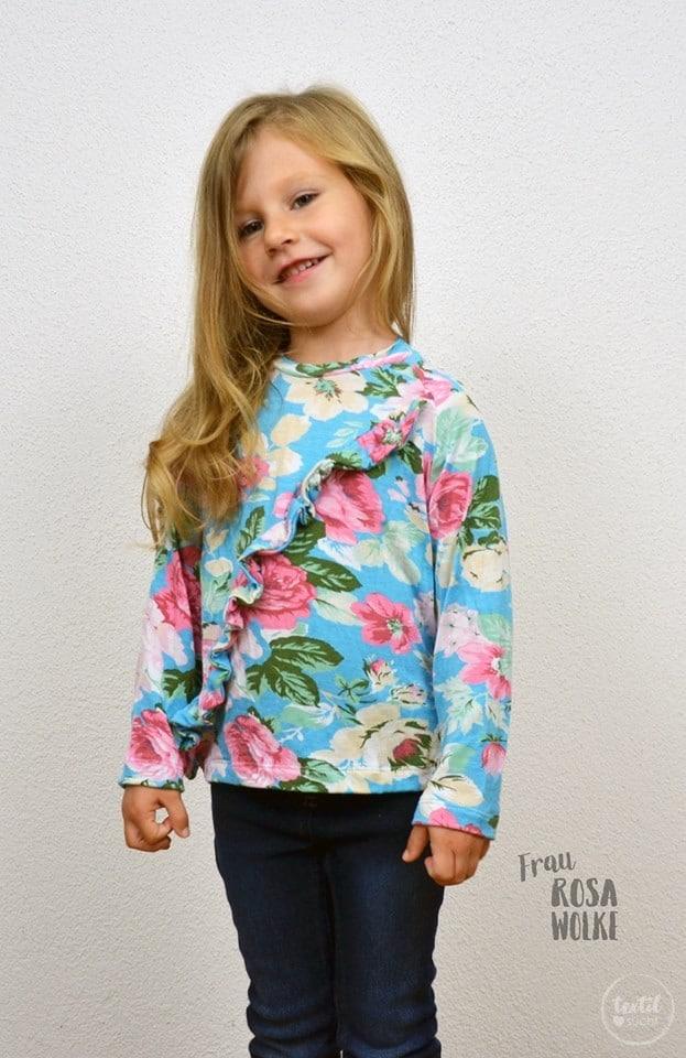 Schnittmuster Rüschenshirt Kinder - inkl. Nähanleitung » Textilsucht®
