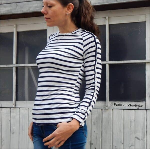 Schnittmuster Rüschenshirt Damen - inkl. Nähanleitung
