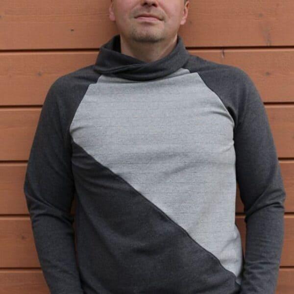 Papierschnittmusterbogen Sweater Kuschelwarm für Männer in den Größen 44 bis 58 inkl. PDF-Nähanleitung