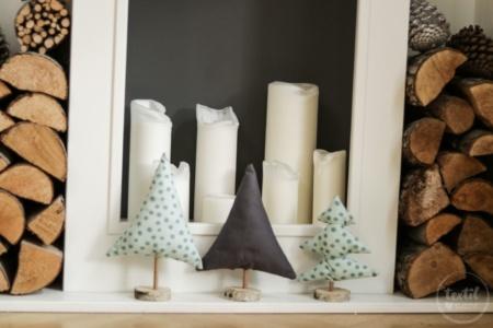 DIY Weihnachtsbäume aus Stoffresten nähen
