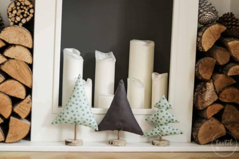 diy weihnachtsb ume aus stoffresten basteln textilsucht. Black Bedroom Furniture Sets. Home Design Ideas