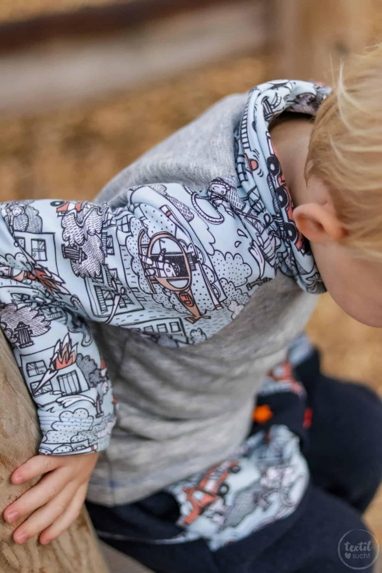Kinderoutfit aus Walkhose und Sweater nähen - Bild 6 – textilsucht.de