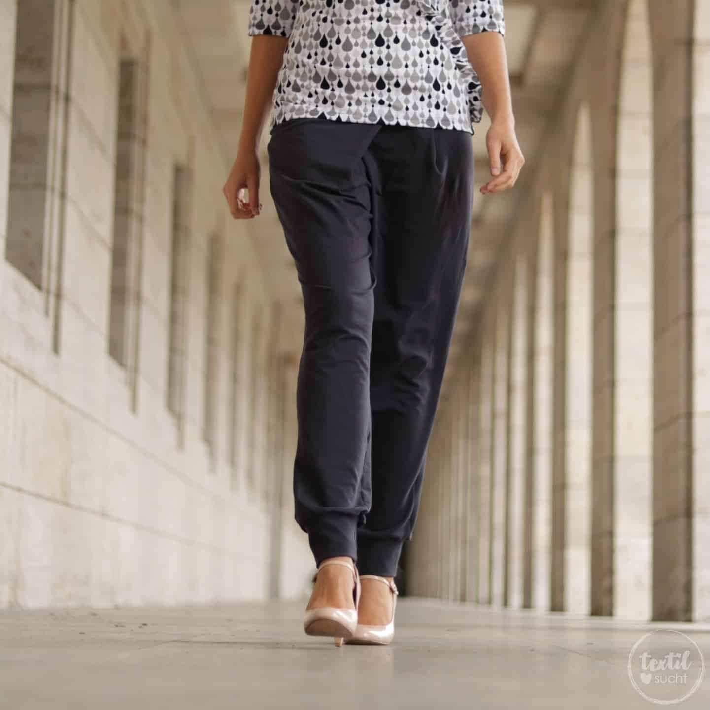 Schnittmuster Bundfaltenhose Damen - inkl. Nähanleitung » Textilsucht®