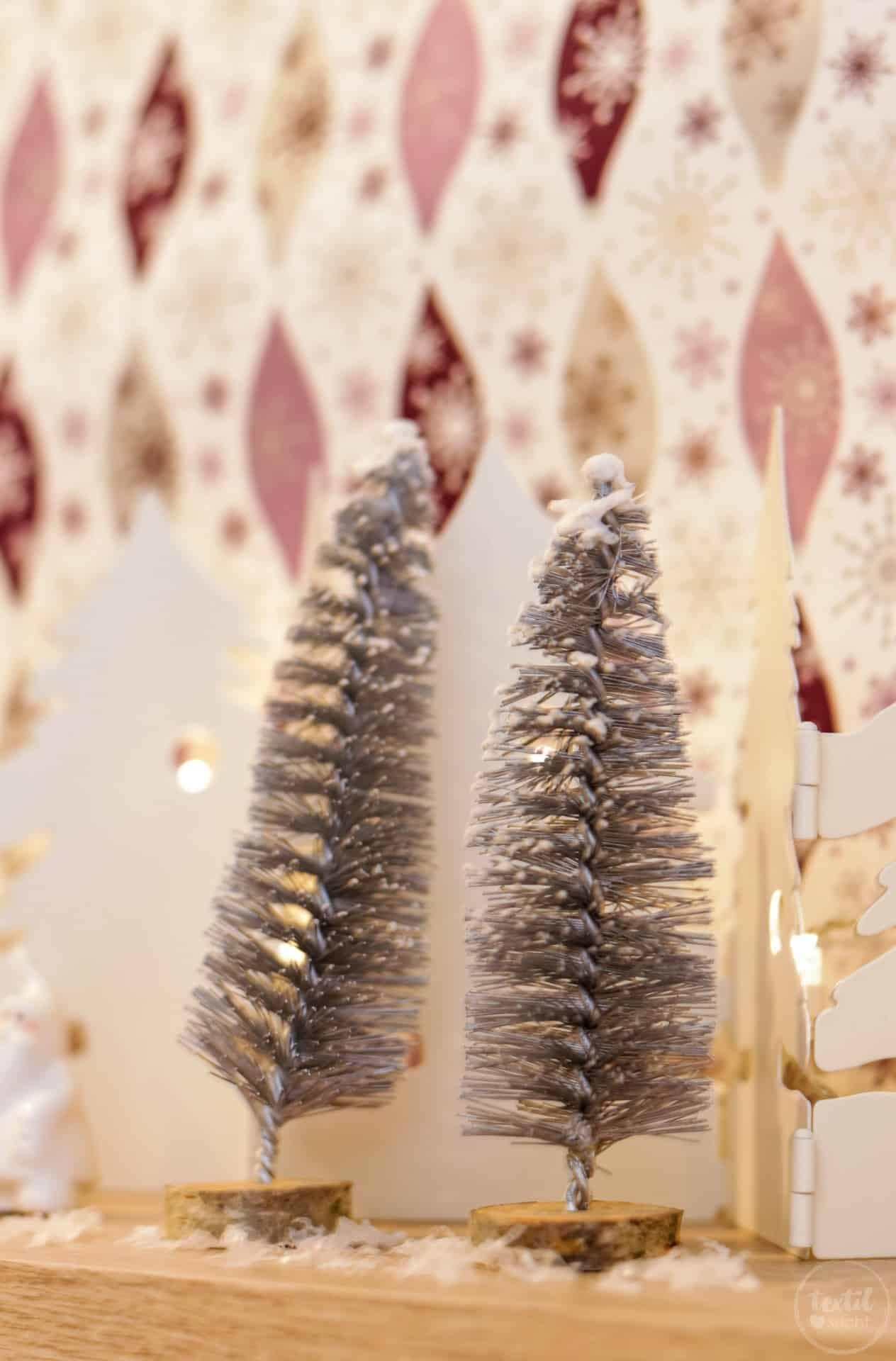 DIY Weihnachtsbaum aus Flaschenbürsten - Bild 2   textilsucht.de