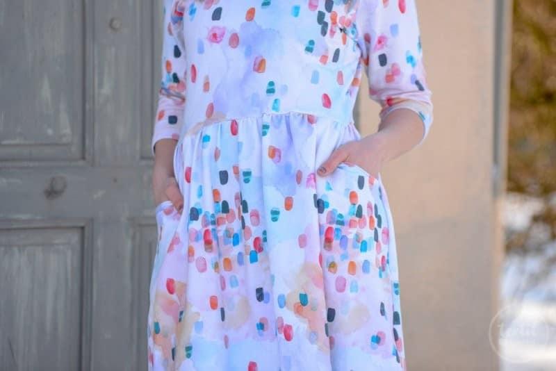 Schnittmuster Kleid Annedore mit Taschen - Bild 4 | textilsucht.de
