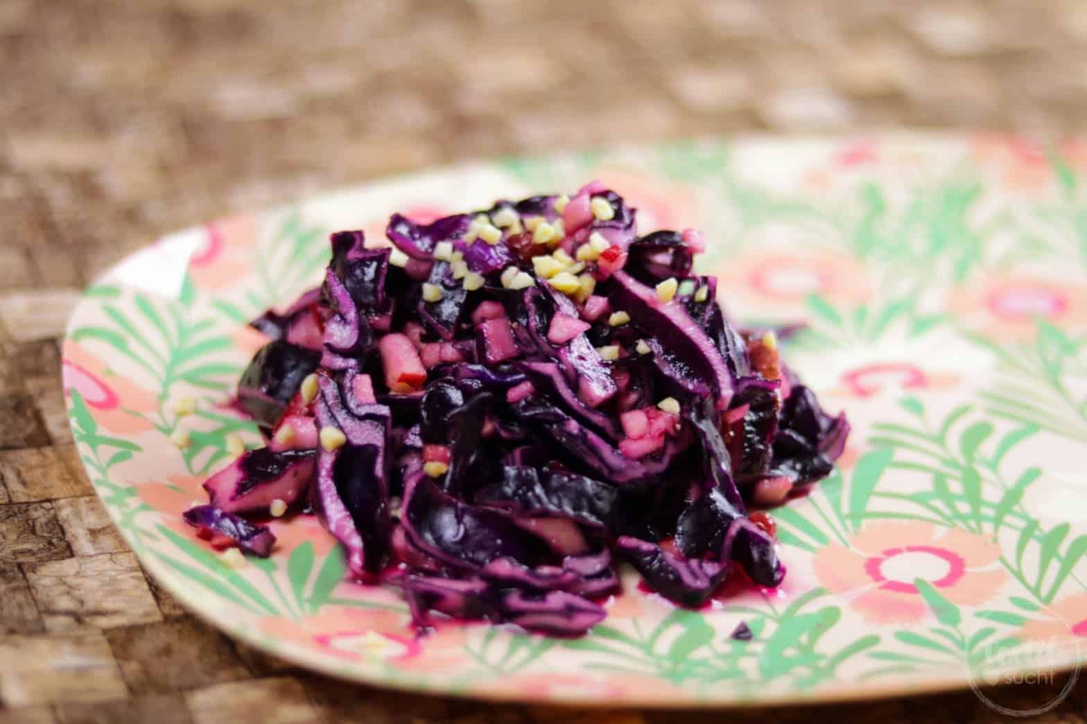 Rotkraut-Preiselbeer-Salat