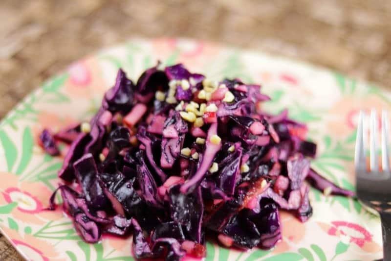 Rezeptidee Rotkohl-Preiselbeer-Salat | textilsucht.de