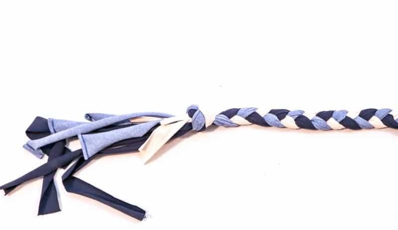 Hundespielzeug selber machen aus Stoffresten - Schritt 4 | textilsucht