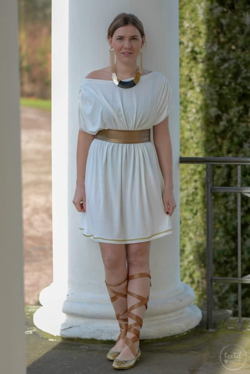 Griechische Göttin Kostüm selber nähen - Bild 7 | textilsucht.de