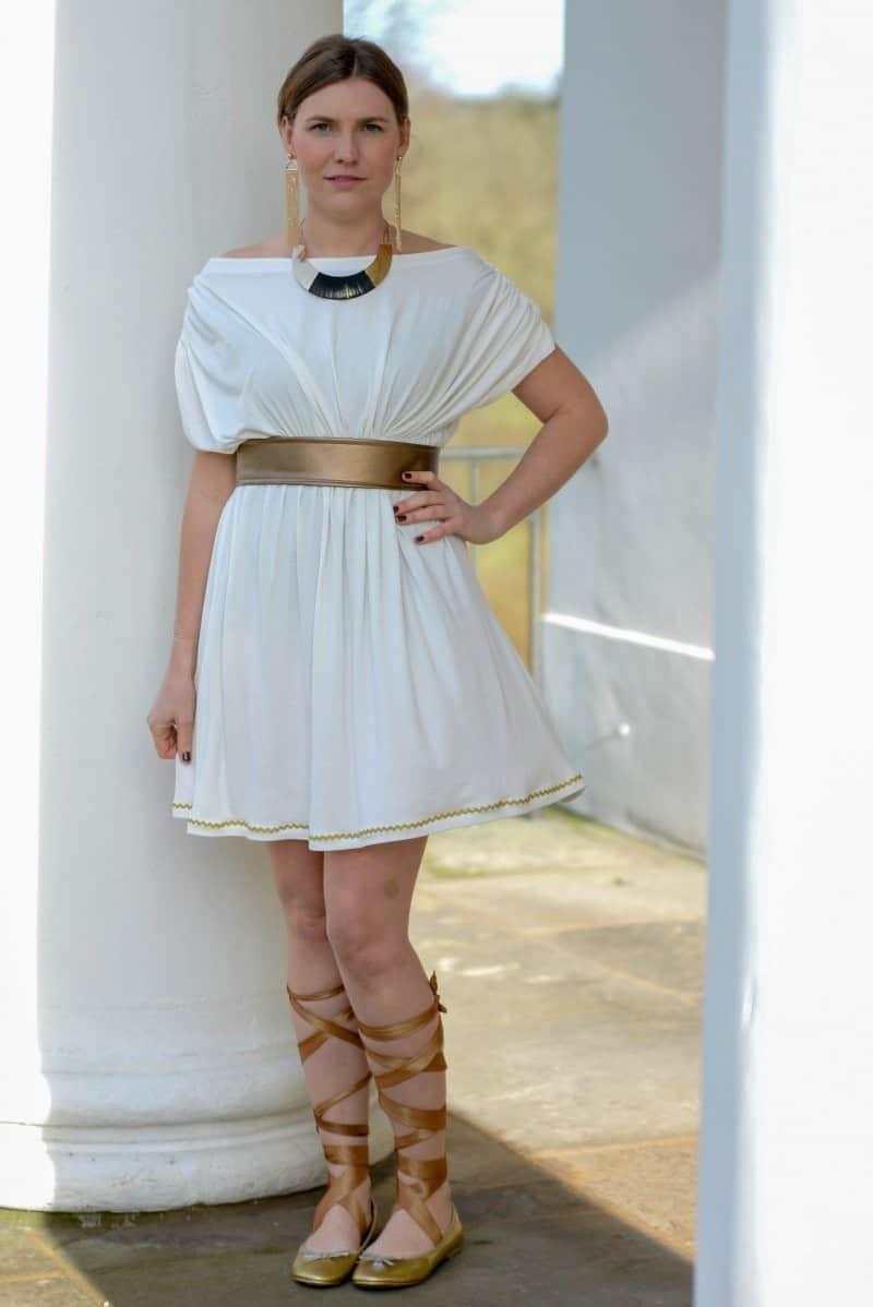 Griechische Göttin Kostüm selber nähen - Bild 1 | textilsucht.de