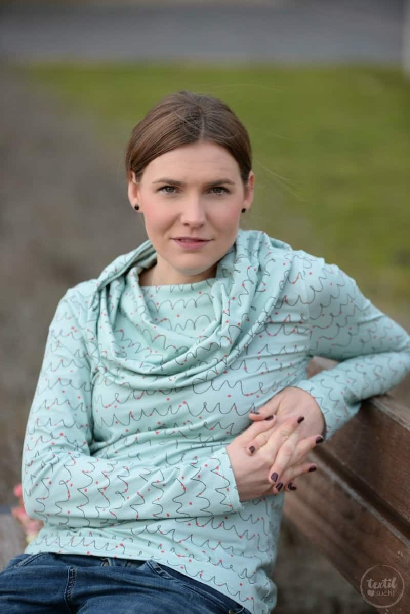 Neues Schnittmuster online: Shirt Anjuta mit Kuschelkragen - Bild 3 | textilsucht.de