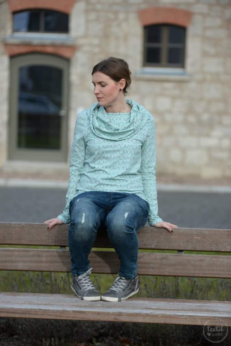Neues Schnittmuster online: Shirt Anjuta mit Kuschelkragen - Bild 4 | textilsucht.de