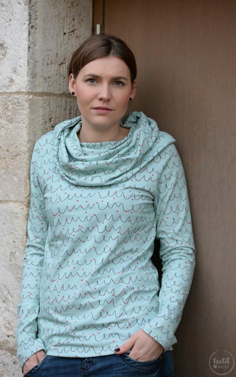 Neues Schnittmuster online: Shirt Anjuta mit Kuschelkragen - Bild 5 | textilsucht.de
