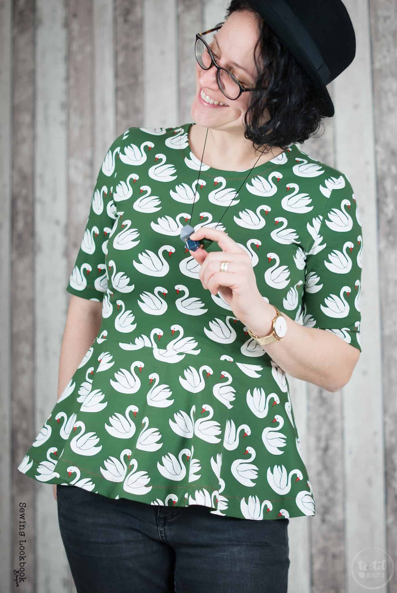 Schnittmuster Volant Shirt Nastja - inkl. Nähanleitung » Textilsucht®