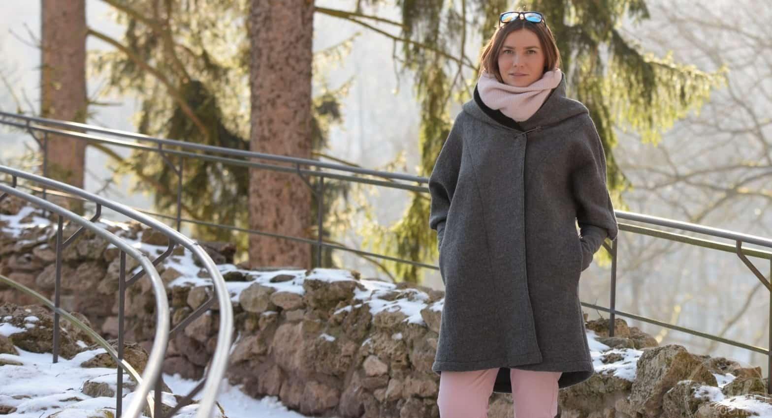 Schnittmuster Oversizejacke Mikala aus Wollwalk - Titelbild | textilsucht