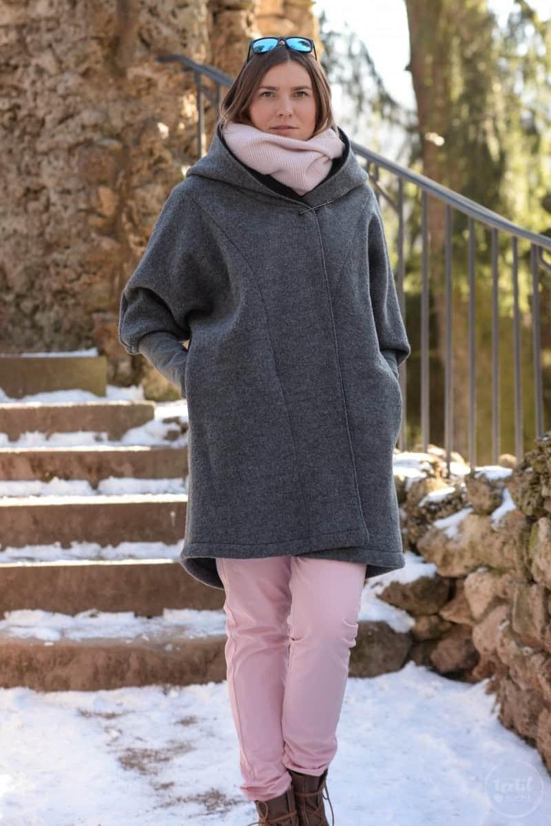 Schnittmuster Oversizejacke Mikala aus Wollwalk - Bild 10 | textilsucht