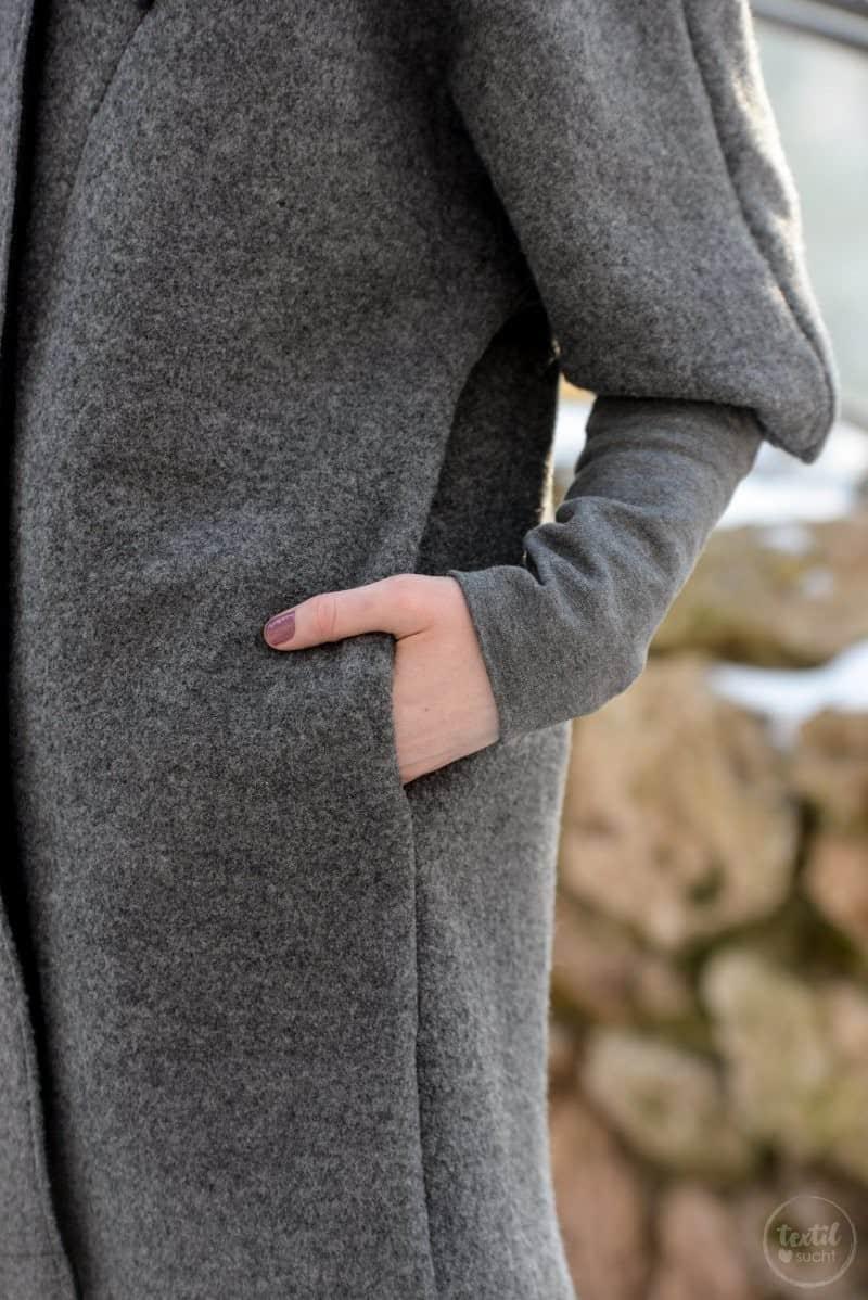 Schnittmuster Oversizejacke Mikala aus Wollwalk - Bild 5 | textilsucht