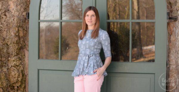 Schnittmuster Volant Shirt Nastja von Textilsucht - Titelbild | textilsucht.de