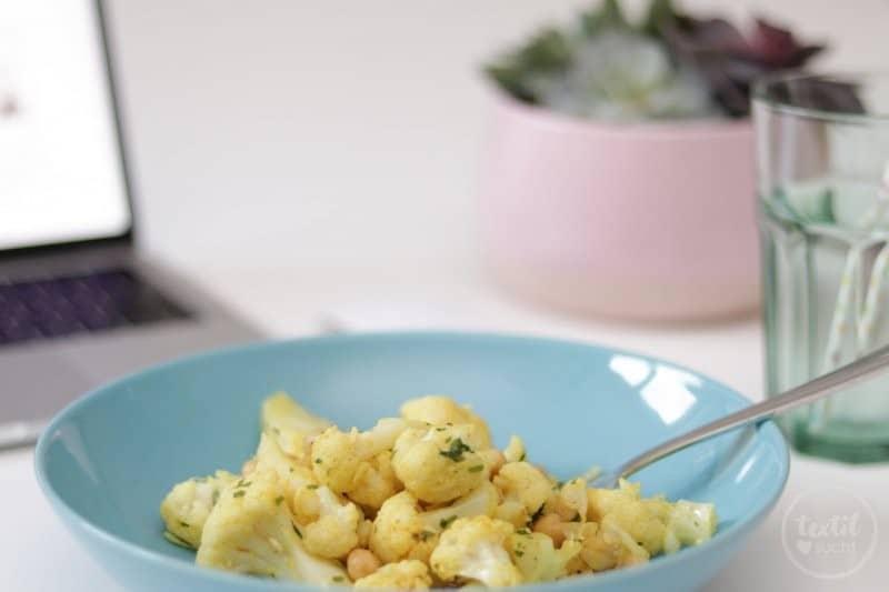 Vegan, schnell und Lecker: Kichererbsen-Blumenkohl-Salat Rezept - Bild 2 | textilsucht.de