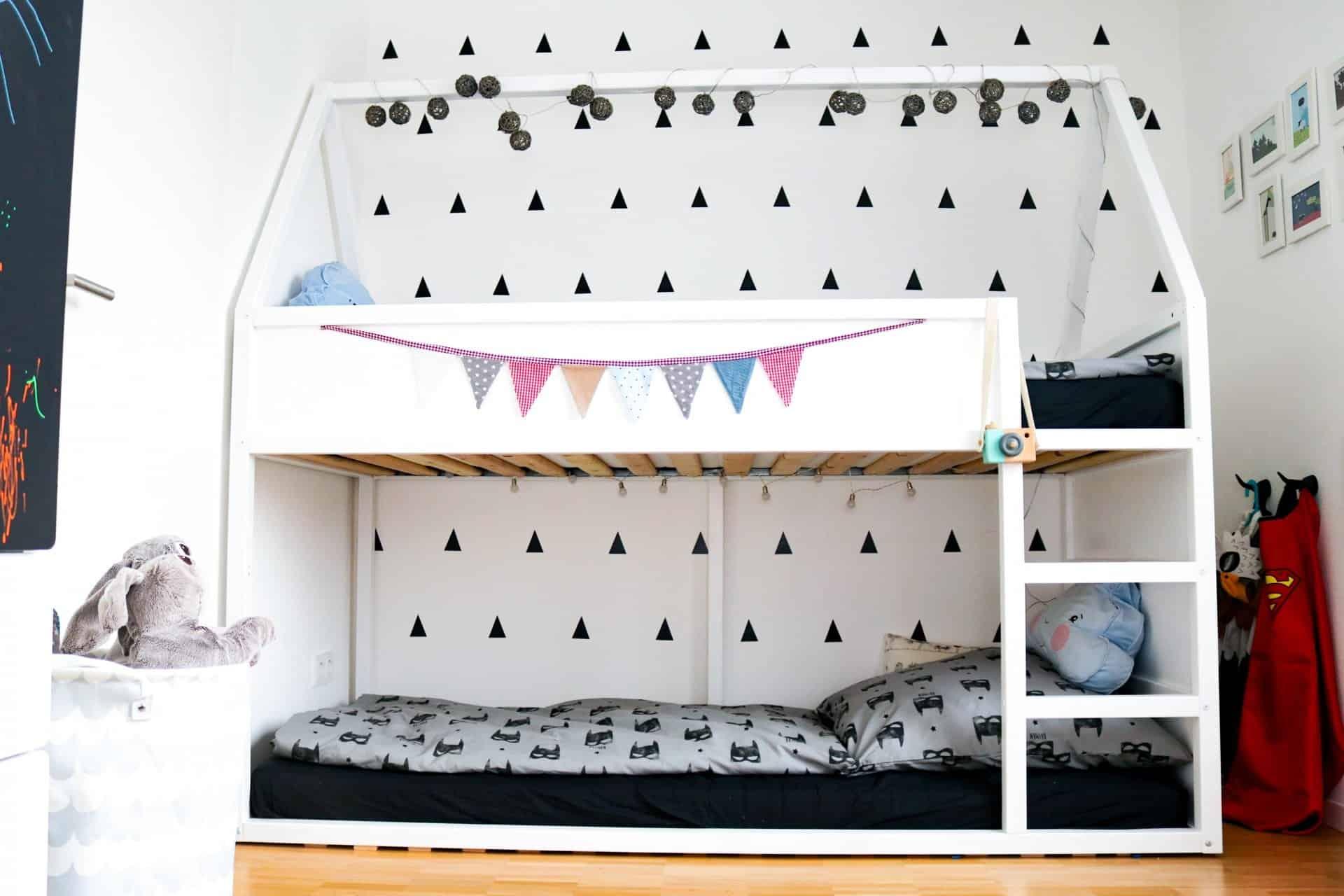 Haus hochbett bauanleitung ikea hack und ein paar tolle ideen f r 39 s kinderzimmer textilsucht - Tolle kinderzimmer ideen ...