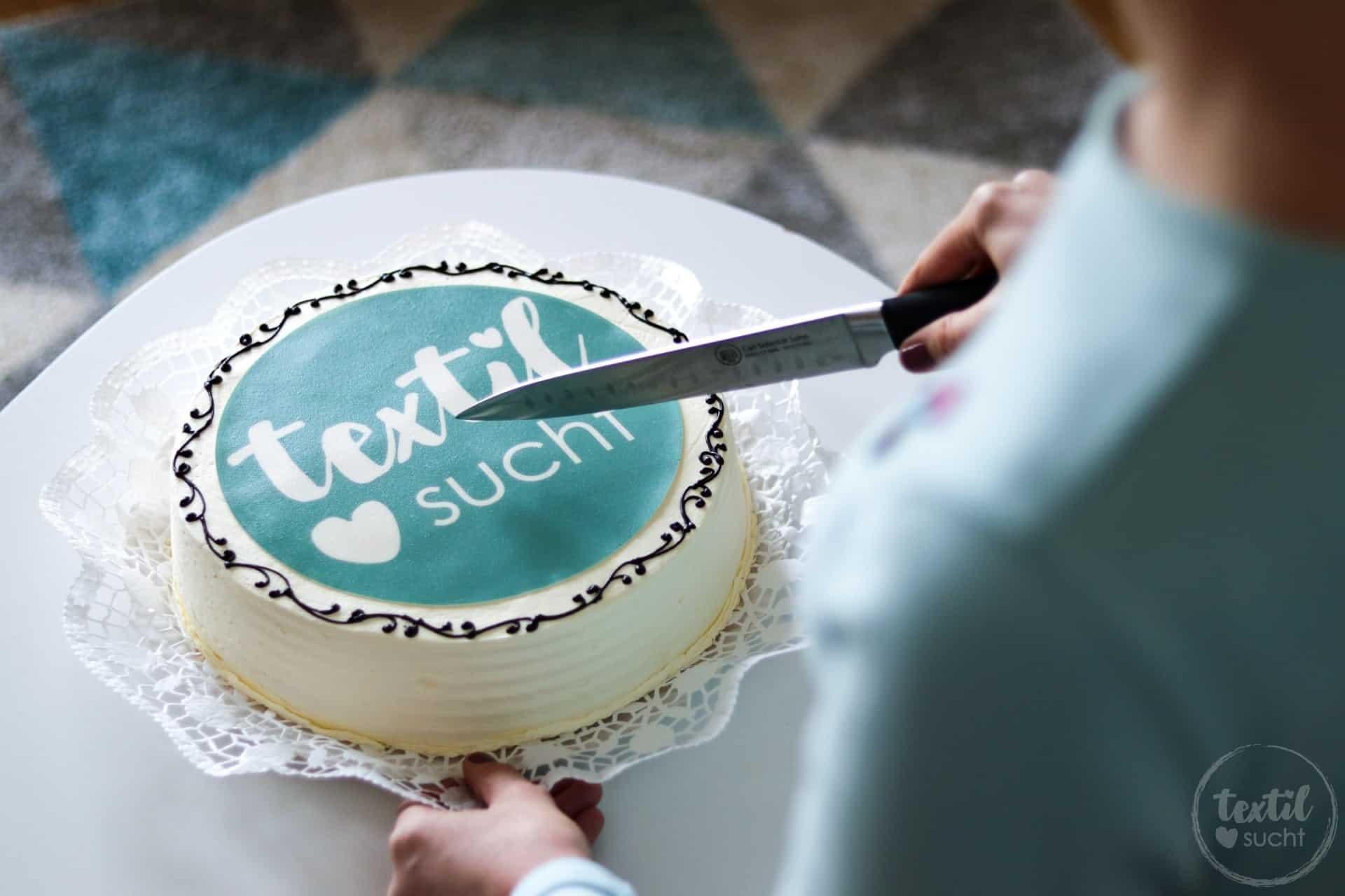 Ein besonderer Glückwunsch: Meine eigene Textilsucht Torte