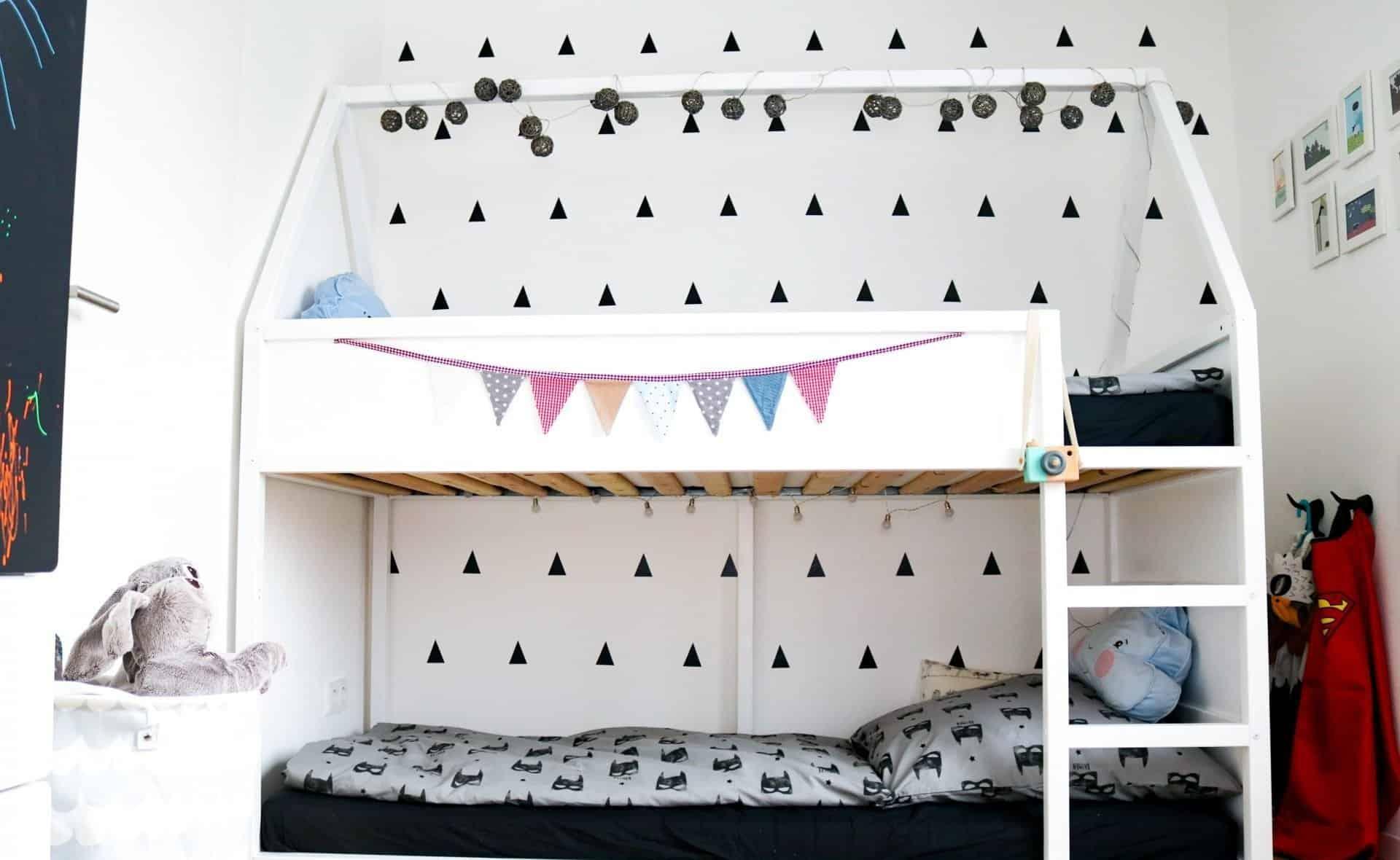 Haus-Hochbett Bauanleitung und ein paar tolle Ideen für's Kinderzimmer