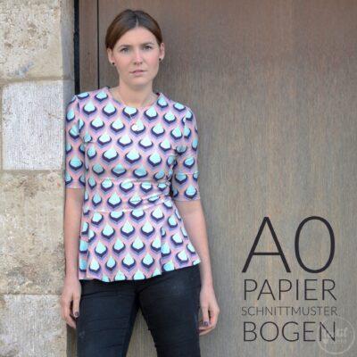 Papierschnittmuster Volant Shirt Nastja von Textilsucht