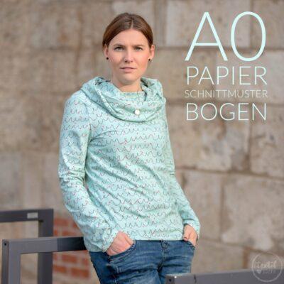 Papierschnittmuster Kragen Shirt Anjuta - inkl. Nähanleitung