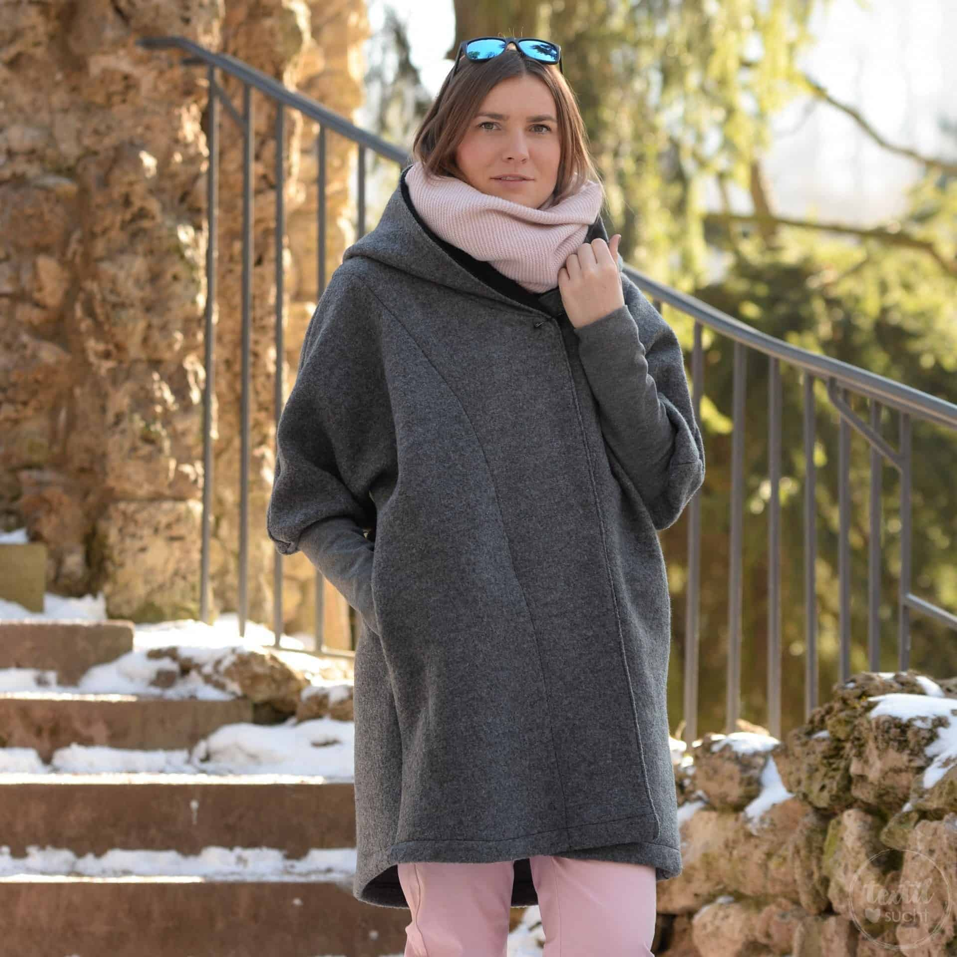 Oversizejacke Mikala aus Wollwalk » Textilsucht®