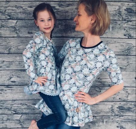 Schnittmuster Volant Shirt Nastja für Damen und Kinder